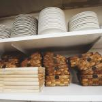 Baskets and boards await house baked breads.