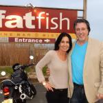 ROSARIO CASSATA AND CAROLYN CASSATA AT FATFISH IN BAY SHORE ,NY.