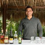 The smiling Benu, your bartender