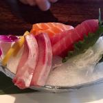 Salmon, Tuna, and White Fish Sashimi at Nagoya Sushi and Steakhouse Salem, OR