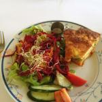 This is the Potato Quiche & Salad which normally comes with chips.........I opted for no chips.
