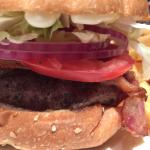 Juicy, succulent perfectly grilled wagyu beef burger at their weekend brunch!! Plus a totally ta