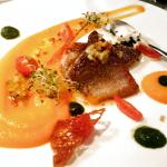 Panfried Sea bream with carrot puree