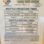 Information on shuttles to the Theme Parks