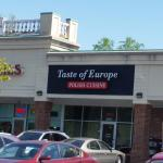 Squeezed in a strip mall, Taste of Europe is small, but not crowded. Intimate :)