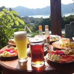 Breakfast with amazing view of the lake and farm land