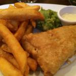 Small plate of fish and (not so) chunky chips