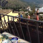 Uitzicht vanaf ontbijttafel