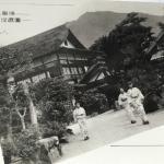 奥津温泉 河鹿園  全景や昭和15年頃  玄関、露天風呂