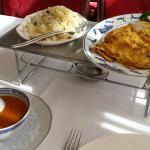 Chinese omelet met nasi