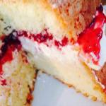Another one of our Home made cakes, Victoria Sandwich full of fresh double cream and strawberry