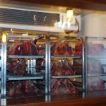 Dry aging those incredible steaks ... what a remarkable thing to look at !