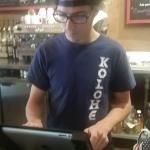 Mason at the counter