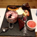 Amazing sharing plate of delicious desserts.