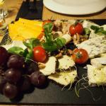 Mediterranean tapas cheese plate
