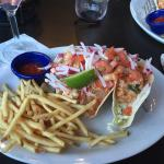 Delicious dinner! Shrimp tacos were amazing!!!! Blueberry martini was refreshing! Always great m