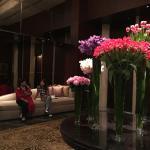The ground floor foyer. Flower arrangements are always lovely in Shangri-La Hotels.