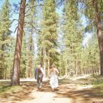 Wedding photo near lodge