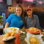 Chicken nachos and Taco Salad
