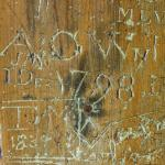 Graffiti in a door from 1798.