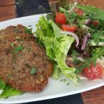 Veal Schnitzel and Garden Salad