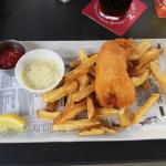 One piece fish and chips - not too many fries