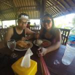 Lunch at kuta lombok beach..