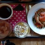 delicious salmon tartlet for breakfast :)