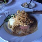 Beautifully done Filet and Oysters