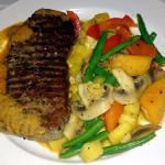 Steak New York, sauce cari