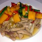Canard à la lime salée et oignon de Chine