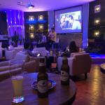 2nd floor bar with cheap hoegarden and live music