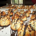 Chocolate Drizzled Macaroons