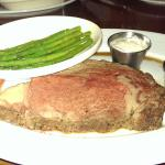 10 oz. prime rib with the day's fresh vegetable
