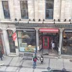 I liked the view of the traditional Quebec street, great pastry shop.