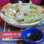 Wife had side salad, fresh, good