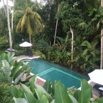This is the view from the balcony in Villa 3.