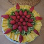 Gâteau d'anniversaire au chocolat et au fruit réalisé pour la 1ère fois !!!