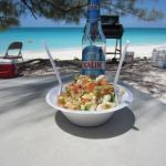 Conch salad on the beach