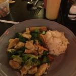 Delicious sweet and sour chicken and beef and broccoli orders