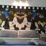 Graditissima dai bimbi e....non solo, la camera superior family a tema Simpson!!!