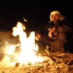 Bedouin dinner in the deep desert under a haze of stars