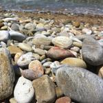 Some pebbles on the beach