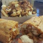 Buffalo Chicken Wrap & Poutine