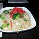Veggie fried rice & Chilean sea bass