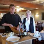 Chef Paul and Ellen with table-side Caesar Salad