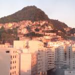 View of one of the favelas from the room on the 8th floor