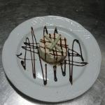 Milk chocolate and cointreau cheesecake