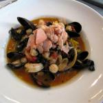 seafood melange - mussels, scallops, shrimp and salmon belly