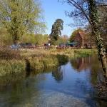 Millstone pub / Barton's Mill & garden - view from the stream